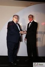 Rich Orcutt (Iovation) receiving the Best New Technology Award at the 2010 iDate Awards Ceremony