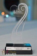 The iDate Award Trophy at the 2011 Miami iDate Awards
