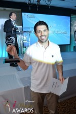 Joel Simkhai - Grindr.com - Winner of Best Mobile Dating App 2012 at the 2012 iDateAwards Ceremony in Miami held in Miami Beach
