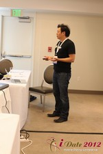 Andy Kim (CEO of Mingle)  at the 2012 Online and Mobile Dating Industry Conference in Los Angeles