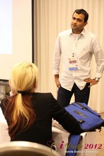 Dwipal Desai (CEO of TheIceBreak.com) covers monetization during a relationship at the 2012 Internet and Mobile Dating Industry Conference in Los Angeles