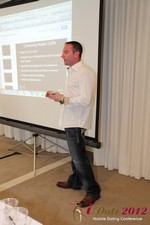Ryan Gray (Co-Founder of IMGrind) at the Mobile Marketing Pre-Conference at iDate2012 Los Angeles