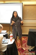 Marni Battista (CEO of Dating with Dignity) at the January 16-19, 2013 Internet Dating Super Conference in Las Vegas