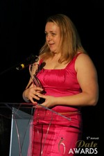 Anna Foster of eRomance (Winner of Best Up and Coming Dating Site) at the 2014 Internet Dating Industry Awards in Las Vegas