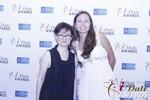 Irena Stepanova and Elena Kolyasnikova at the 2015 iDateAwards Ceremony in Las Vegas