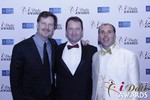 eHarmony's Grant Langston with Mark Brooks and Marc Lesnick at the January 15, 2015 Internet Dating Industry Awards Ceremony in Las Vegas