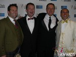 Michael O'Sullivan, Mark Brooks, Max McGuire and Marc Lesnick in Las Vegas at the 2015 Online Dating Industry Awards